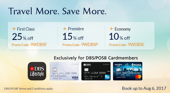 Travel More. Save More | Enjoy 25% Off Flights on Jet Airways with DBS / POSB Card
