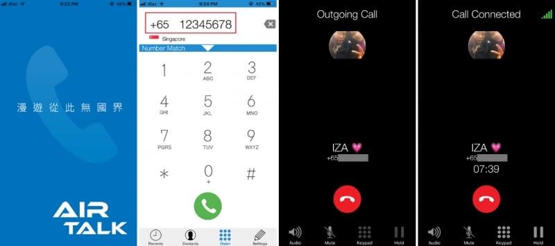 airtalk roam app dialling