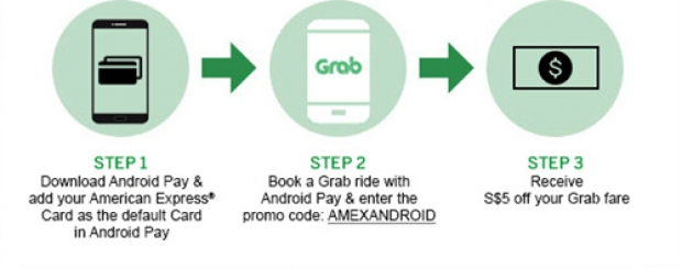 Enjoy up to S$25 Off your Grab Rides with American Express Singapore 1