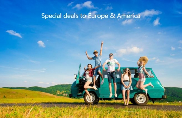 Special deals to Europe & America in Air China