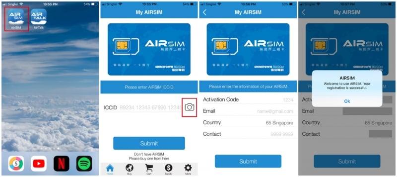 airsim roam app registration