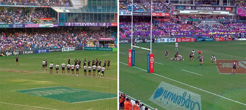 hong kong sevens rugby action
