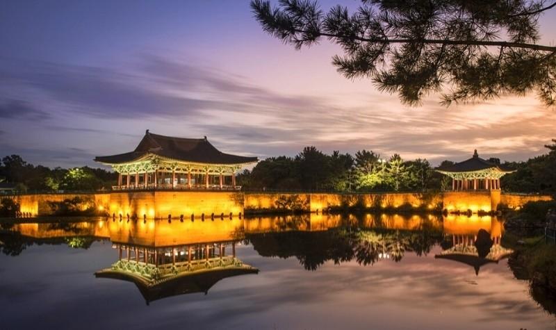 Donggung Palace and Wolji Pond in Gyeongju City