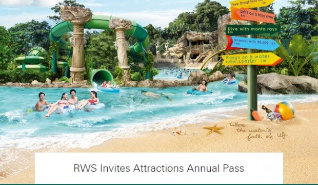 Enjoy 15% off RWS Invites Attractions Adventure Cove Waterpark™ Annual Pass with HSBC