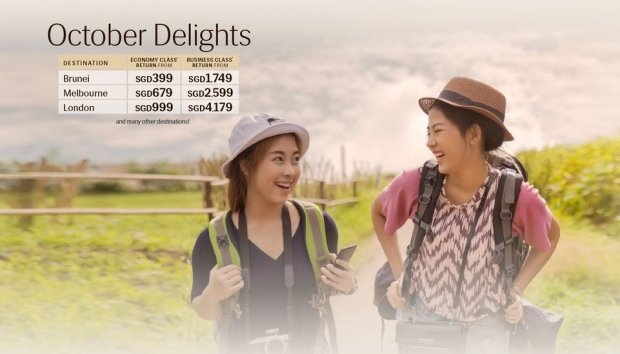 October Delights Offer in Royal Brunei Airlines for your Next Getaway