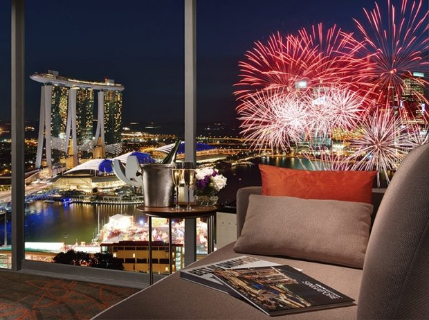 Fireworks by the Bay 2020 at Pan Pacific Singapore