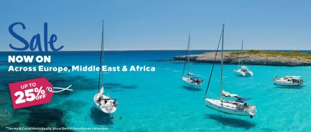 Sale now on for Hilton Hotels Across Europe, Middle East and Africa