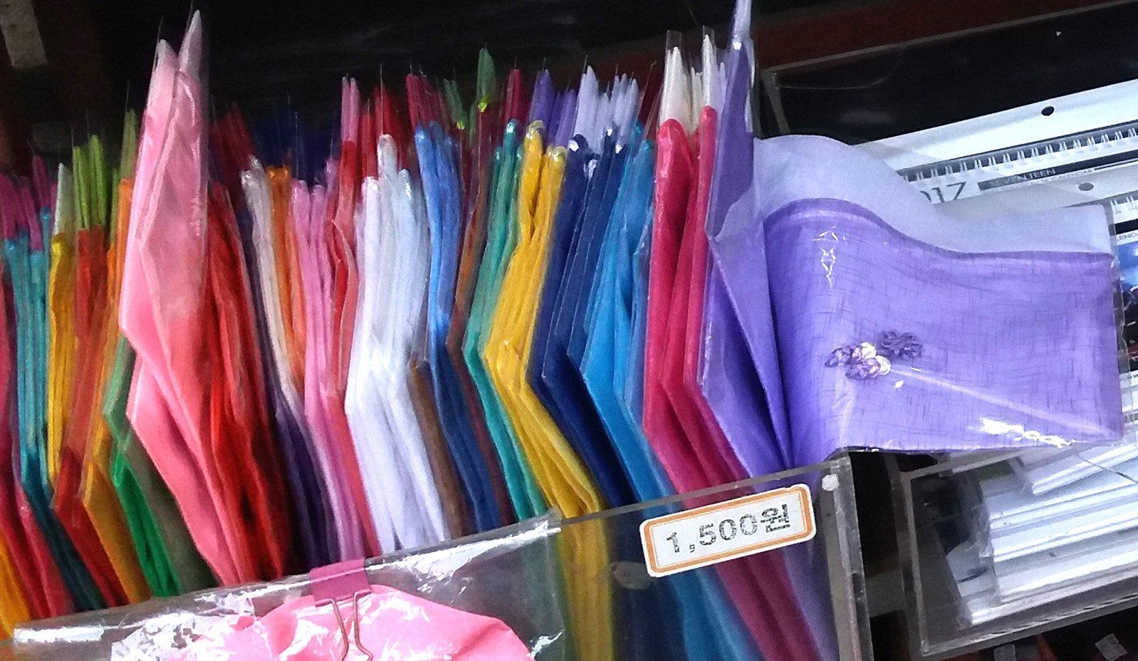 pouches as souvenirs from Korea