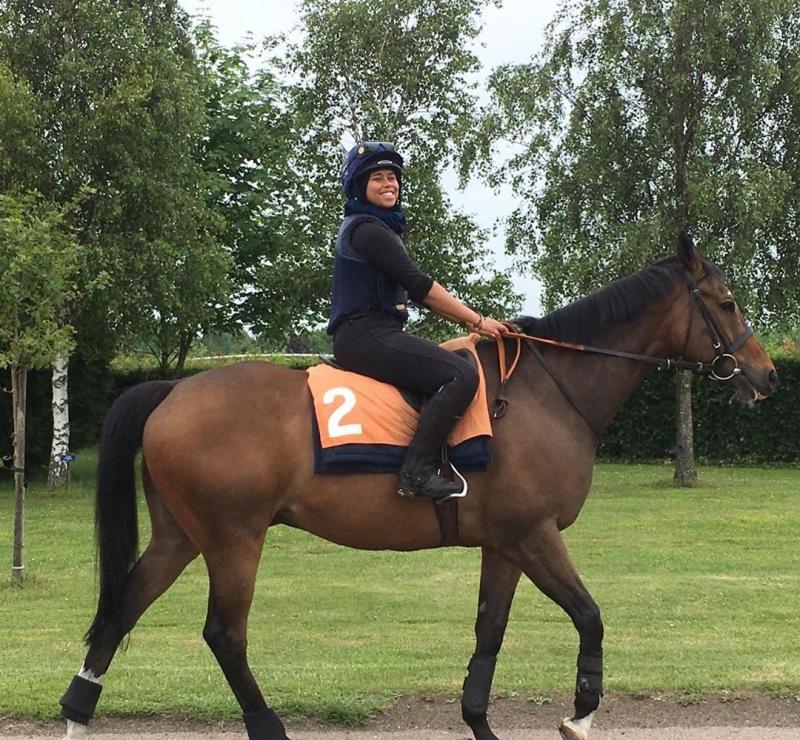 First Hijab Jockey Khadijah Mellah