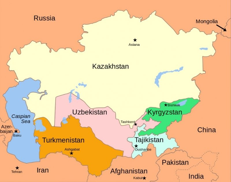 countries in central asia