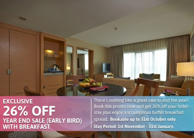 Year End Sale (Room + Breakfast) at 26% Off in Royale Chulan The Curve