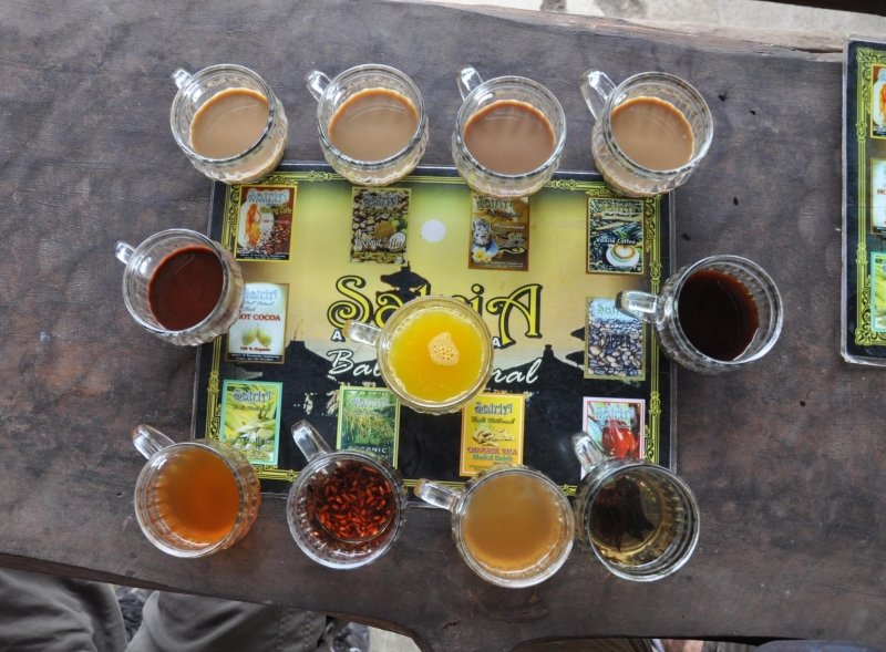 bali souvenirs: coffee and tea