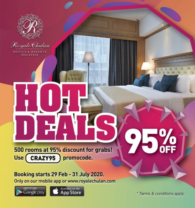 Hot Deals - Up to 95% Off Room Rate at Royale Chulan Cherating Villas