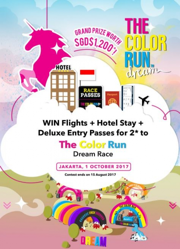 WIN Flight + Hotel Stay and more with CIMB The Color Run Contest