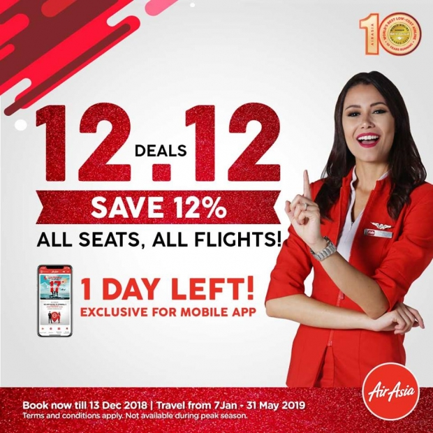 12.12 Deals - Save Up to 12% on Flights with AirAsia