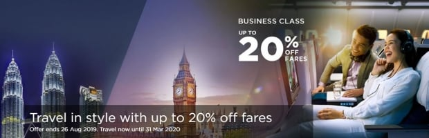 Travel in Style with Malaysia Airlines at 20% Off
