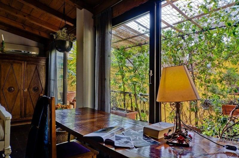 Scholar's apartment in Milan, Italy