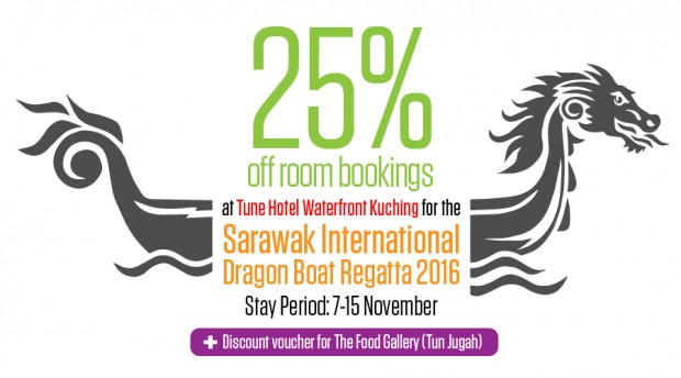 Enjoy 25% Off Room Bookings at Tune Hotel Waterfront Kuching