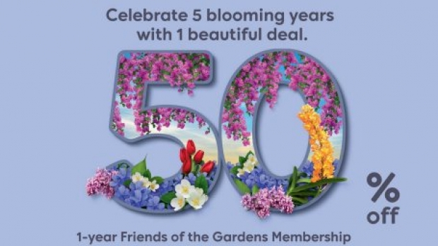 50% Off Membership Renewal or Sign Up as Friends of the Garden in Gardens by the Bay