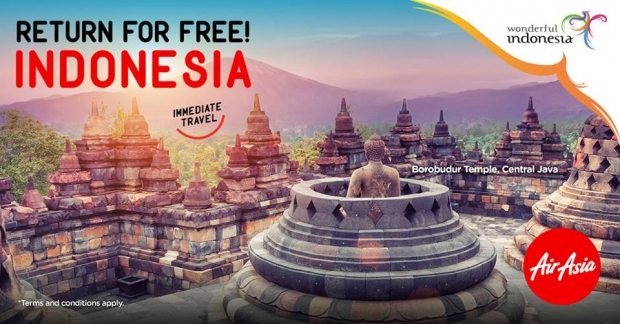 Return for FREE as your Fly to Indonesia with AirAsia