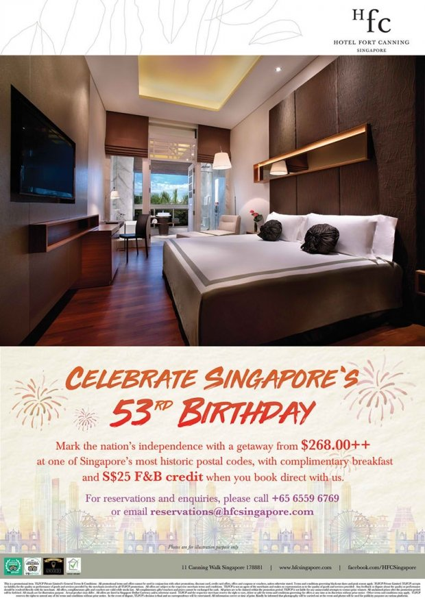 Celebrate Singapore's 53rd Birthday in Hotel Fort Canning Singapore