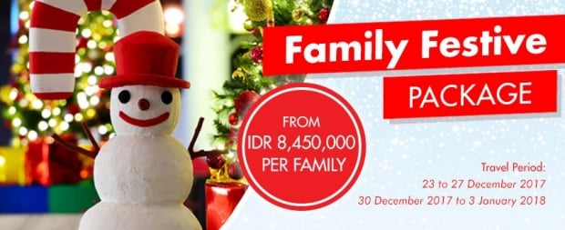 Family Festive Package in Bintan Lagoon Resort for the Holidays