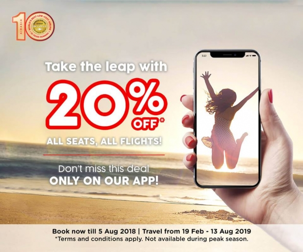 Up to 20% Savings on Flights with AirAsia