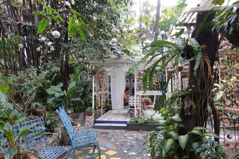 things to do in manila: dine at a garden resort like rusting mornings by isabelo
