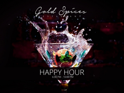 Happy Hour at Gold Spices Restaurant