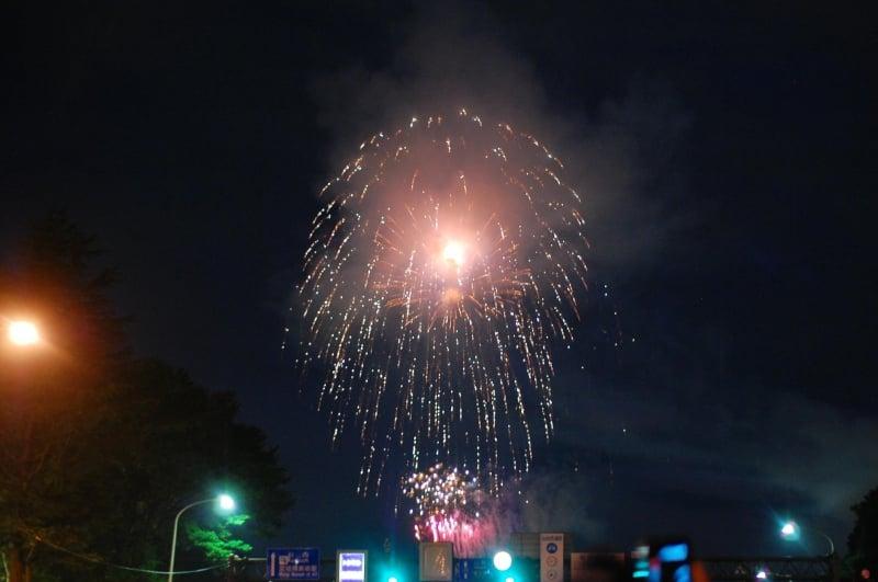 fireworks over sendai