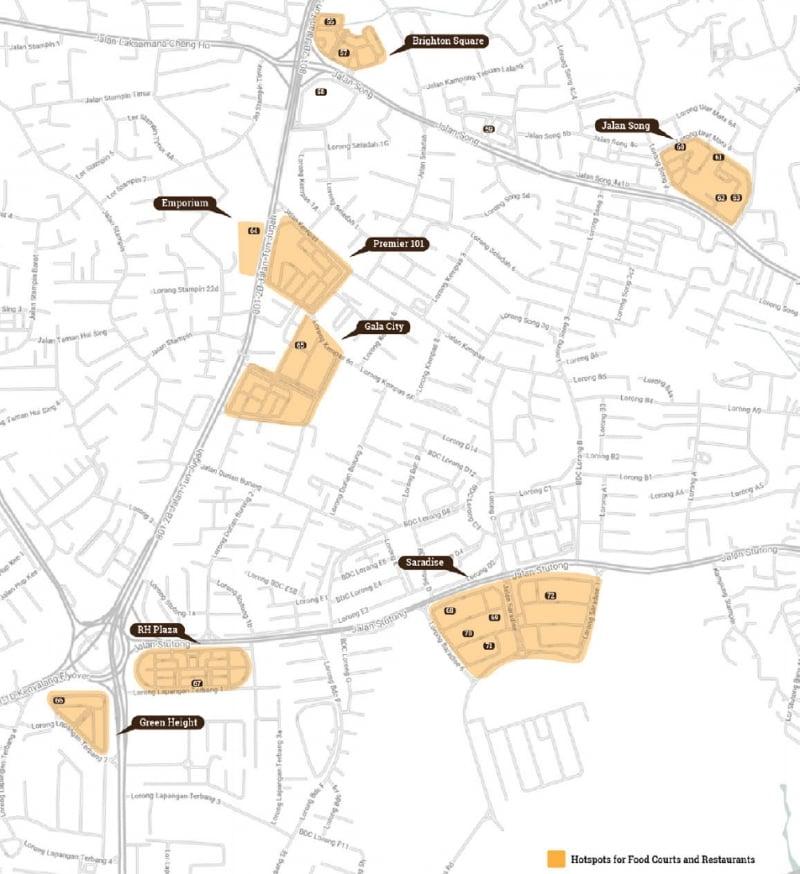 sarawak food trail map