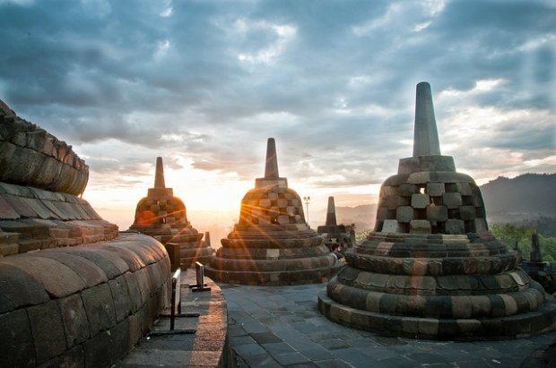 borobudur, Indonesia Du Lịch Bụi Châu Á
