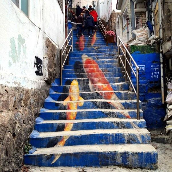 koi staircase