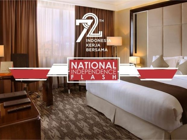 Indonesia National Independence Flash in Swiss-Belhotel Harbour Bay Batam