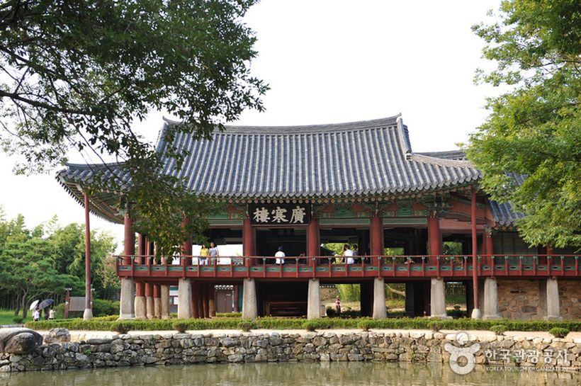 Gwanghallu Pavilion in Gwanghalluwon Garden, Namwon