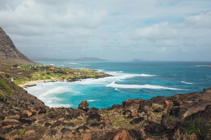 View from the Makapuu Point Lookout, Makapuu, Oahu