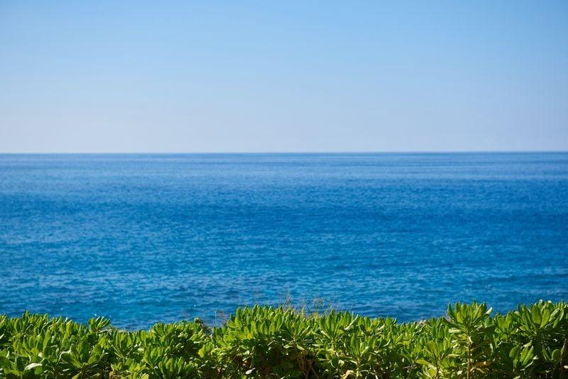 View of Hulopoe Bay, Hulopoe Bay, Lanai, Hawaii